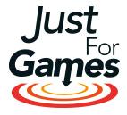 www.justforgames.com Logo
