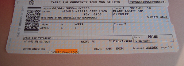 billet de train angleterre