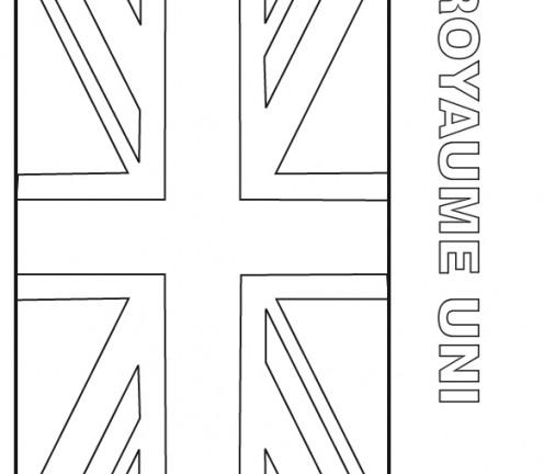 Coloriage drapeau angleterre - Drapeau angleterre coloriage ...