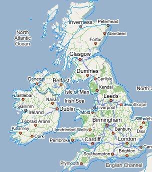 google map angleterre