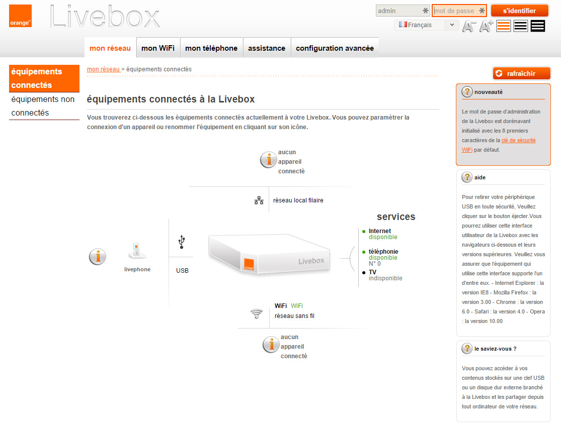 comment changer le code wifi livebox. Black Bedroom Furniture Sets. Home Design Ideas